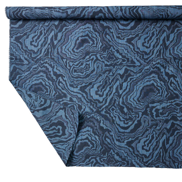 Marble Geode Fabric In Navy Rebecca Atwood Designs