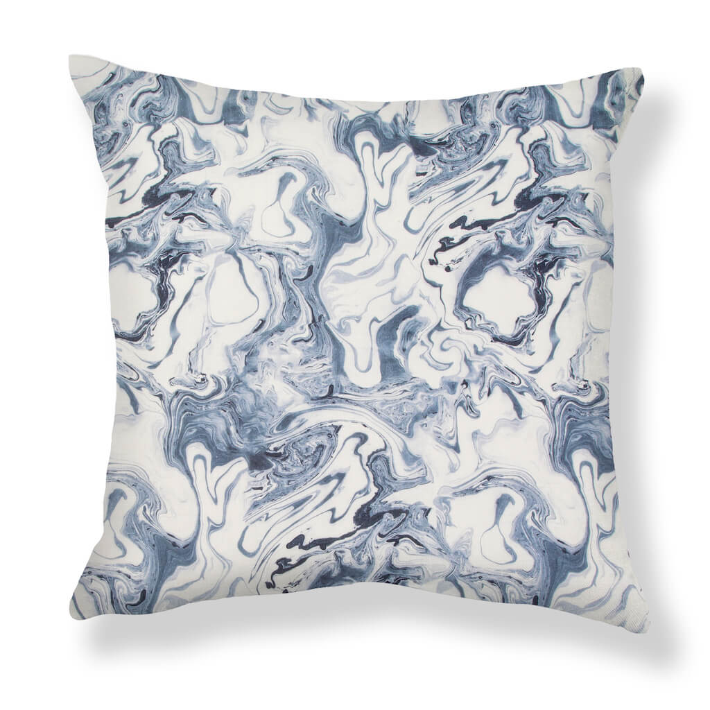 Marble Pillows in Sea Blue
