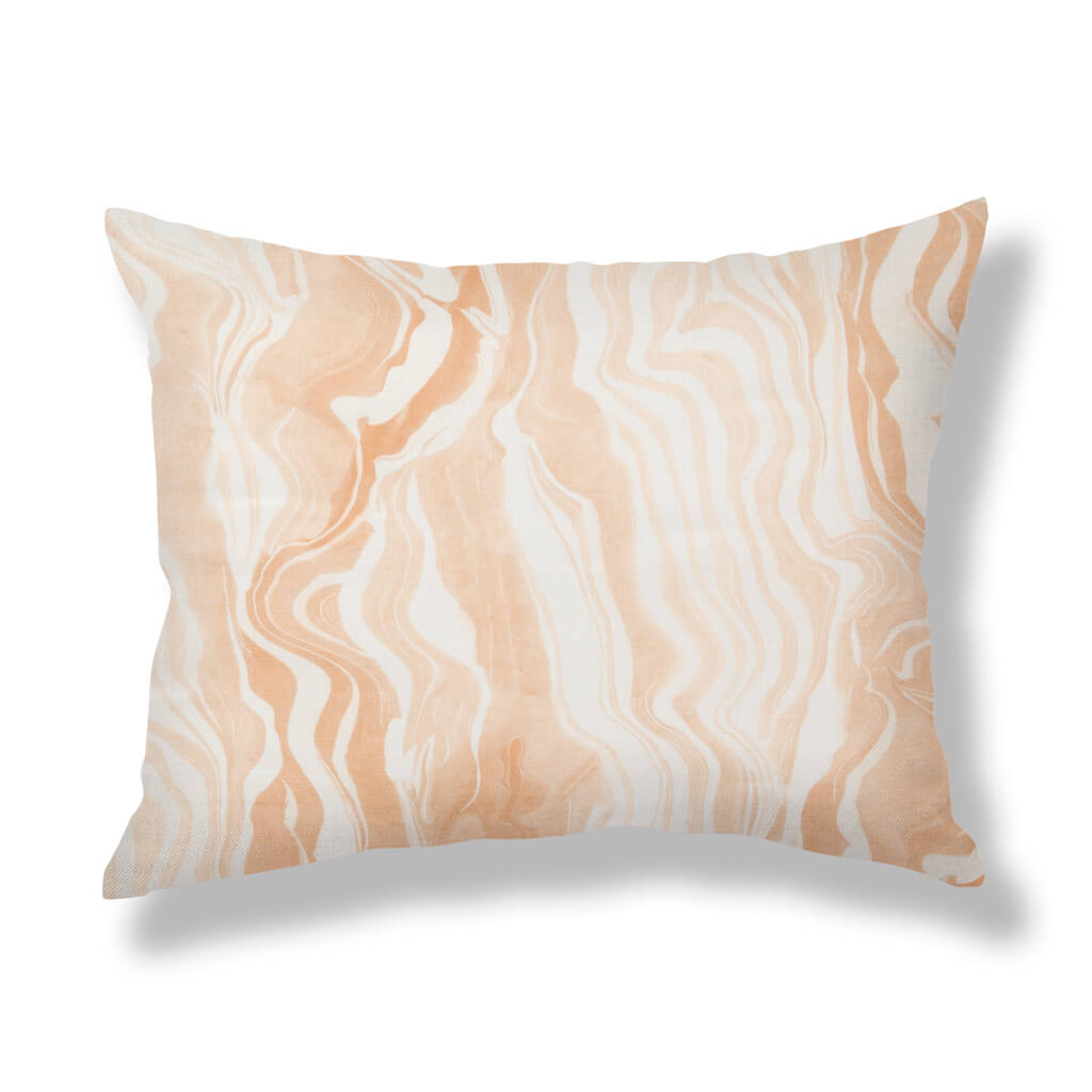 Marbled Stripe Pillows in Blush