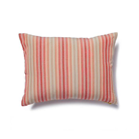 "Marconi Pillow Cover in Coral-Navy 12""x16"""