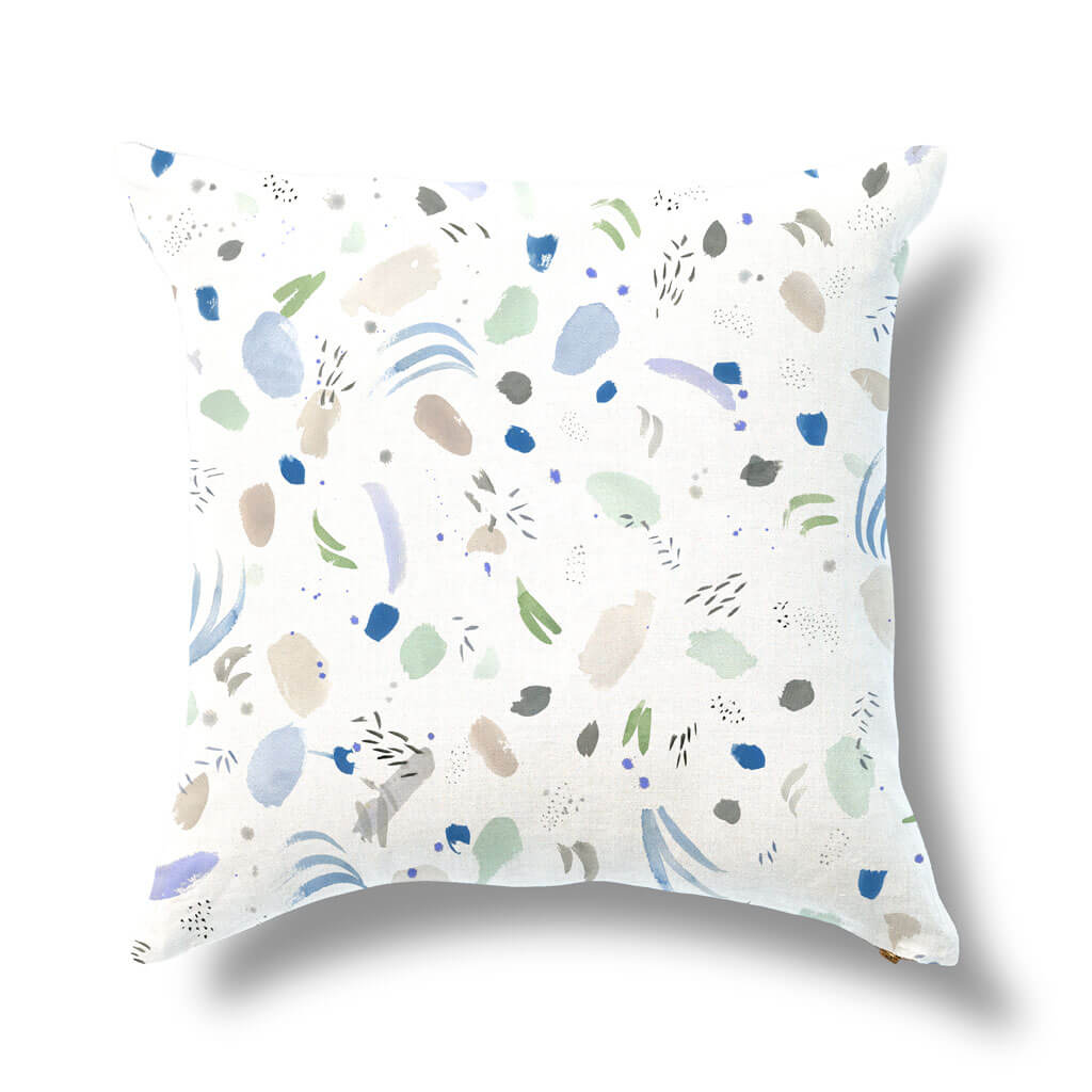 Meadow Pillow in Blue Morning