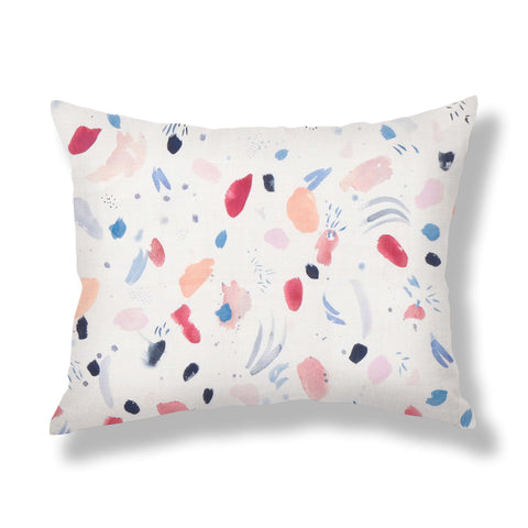 Meadow Pillows in Ruby Blue