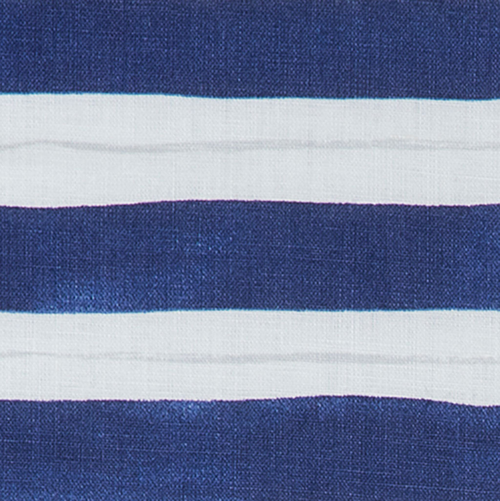 Painted Stripe Fabric in Cobalt & Gray