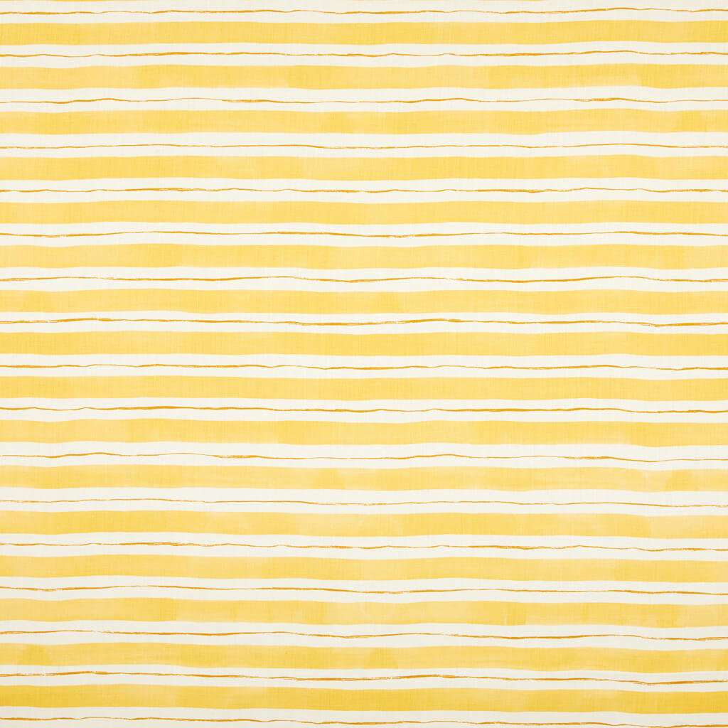Painted Stripe Fabric in Yellow & Ochre
