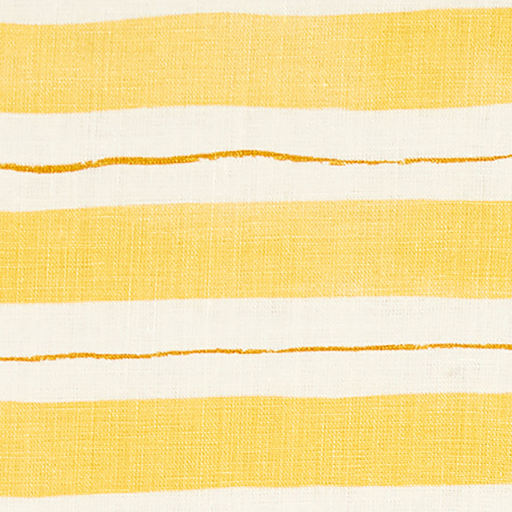 "Painted Stripe Pillow Cover in Yellow/Ochre 20""x20"""