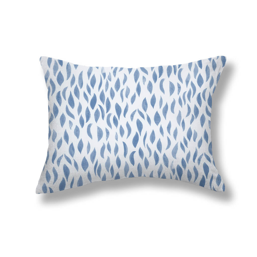 Petals Pillows in Ocean Blue