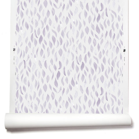 Petals Wallpaper in Lilac