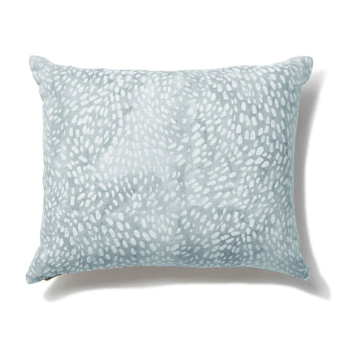 Speckled Pillow in Cloud Blue