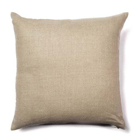 Sashiko Stitch Pillow in Pale Mist