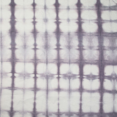 Shibori Panel in Gray-Lilac