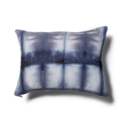 Grid Shibori Pillow in Navy