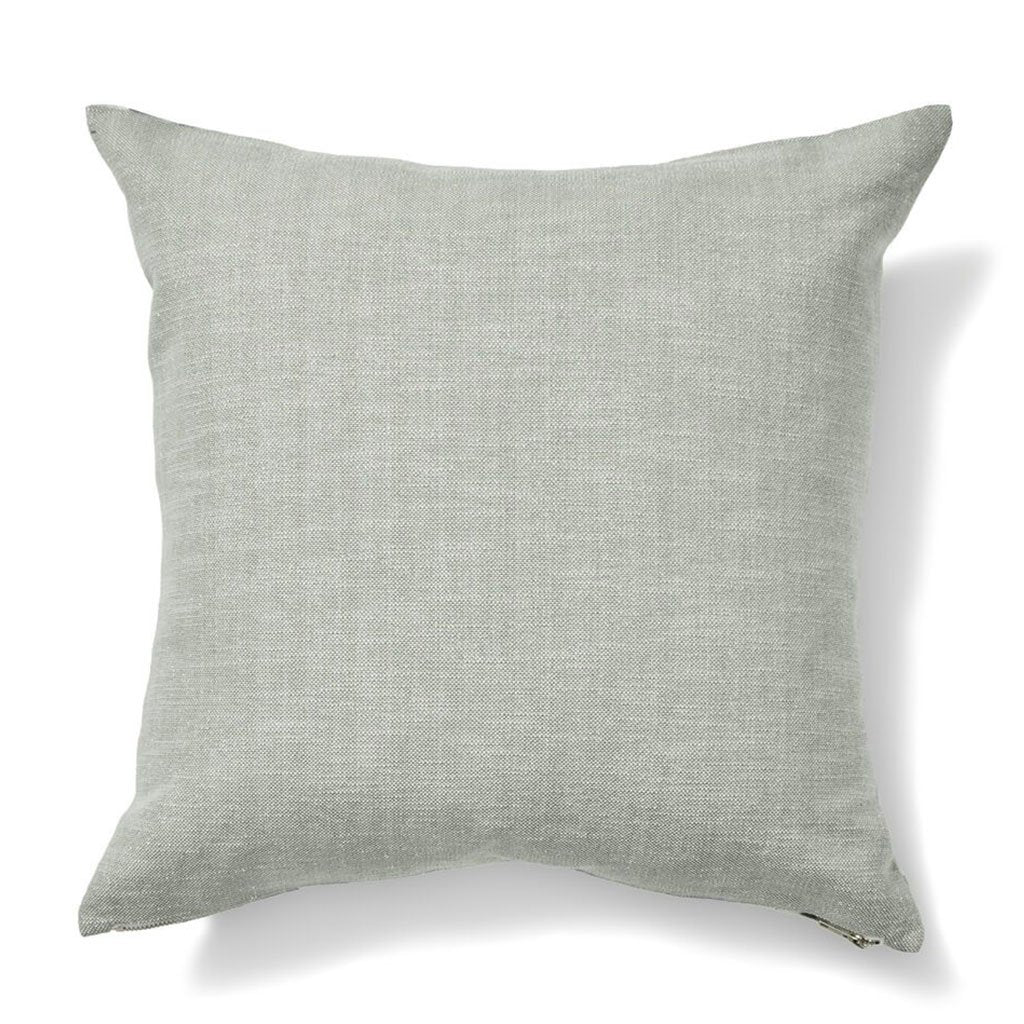 Wildflower Pillow in Blue / Tomato