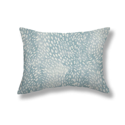 Speckled Pillows in Cloud Blue
