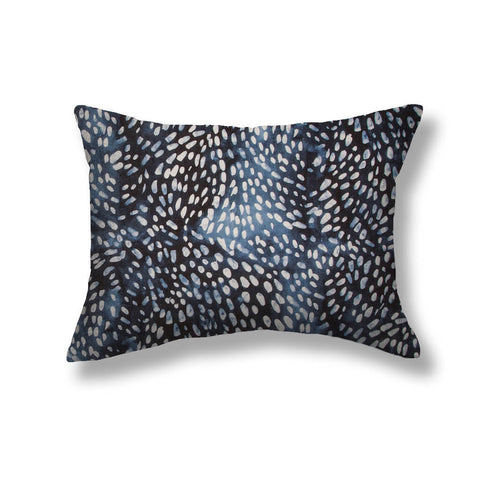 Speckled Pillows in Navy