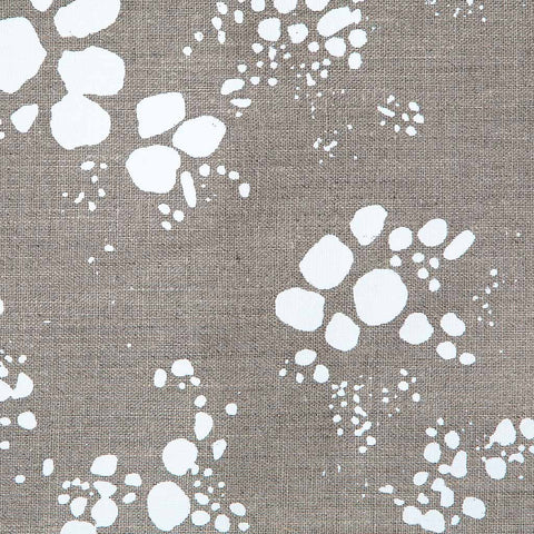 Spots Fabric in White & Natural