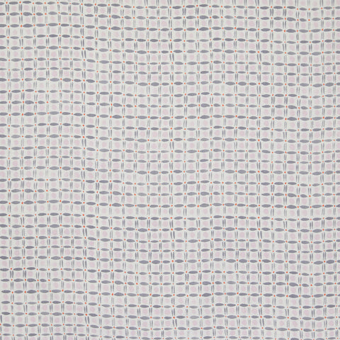 Spotted Grid Fabric in Lilac/Gray
