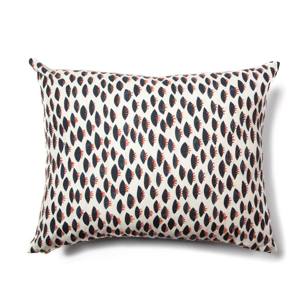 "Spring Pillow Cover in Navy 16""x20"""