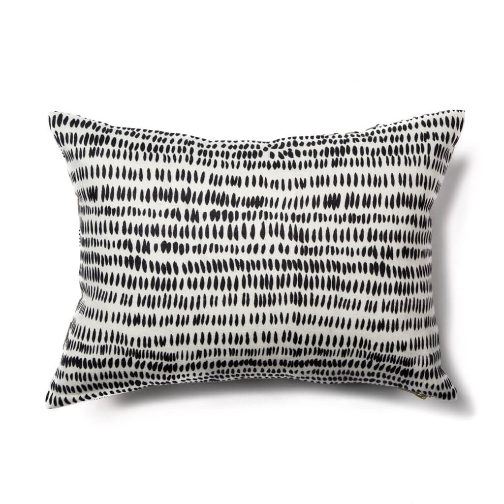 Spring Pillow in Gray & Black