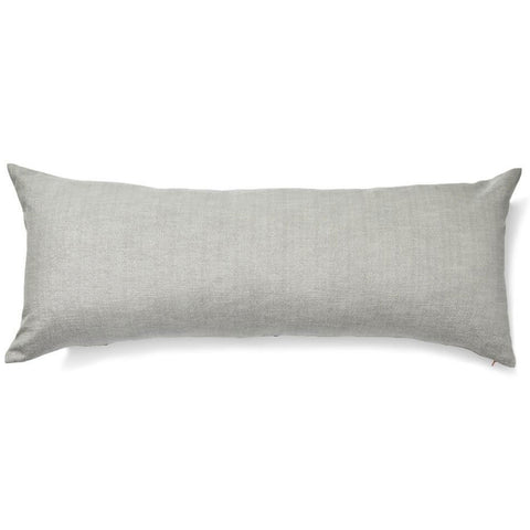 Stars Lumbar Pillow Cover in Gray/Taupe