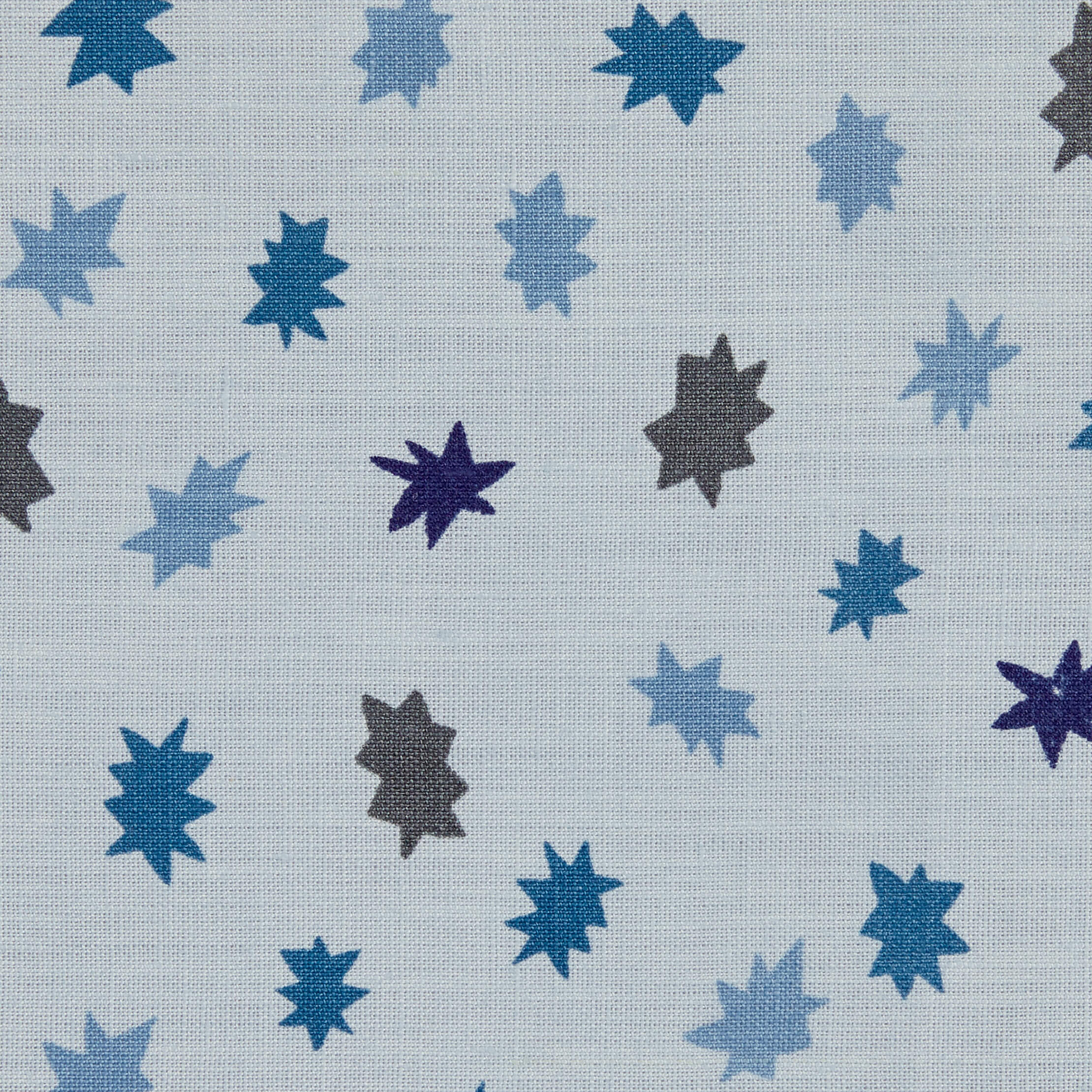 Stars Fabric in Ocean Blue