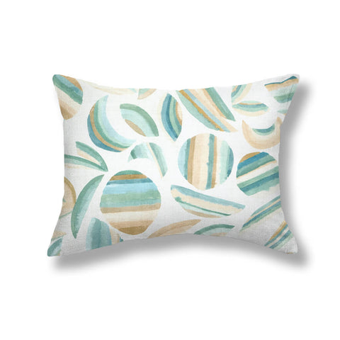 Striped Garden Pillows in Garden Green