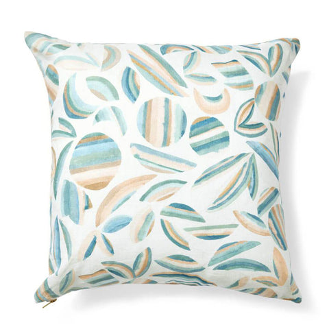 "Striped Garden Pillow Cover in Garden Green 20""x20"""