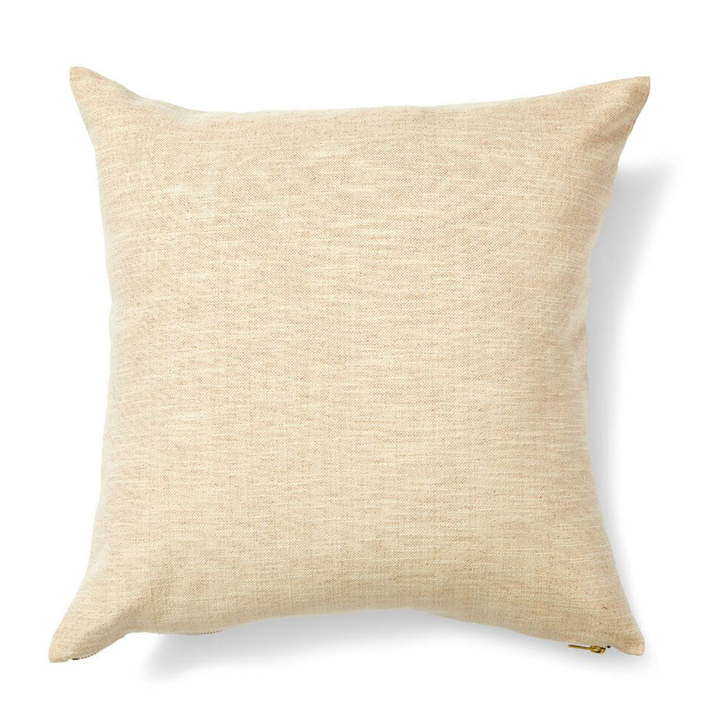 "Striped Garden Pillow Cover in Taupe 20""x20"""