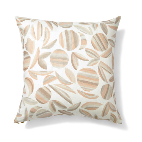 "Striped Garden Reversible Pillow Cover in Taupe 24""x24"""
