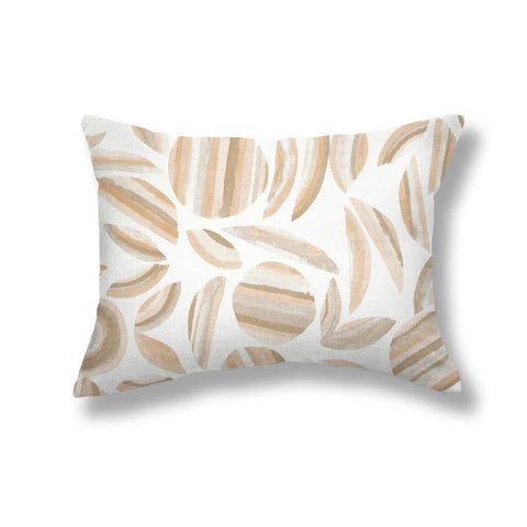 Striped Garden Pillows in Taupe