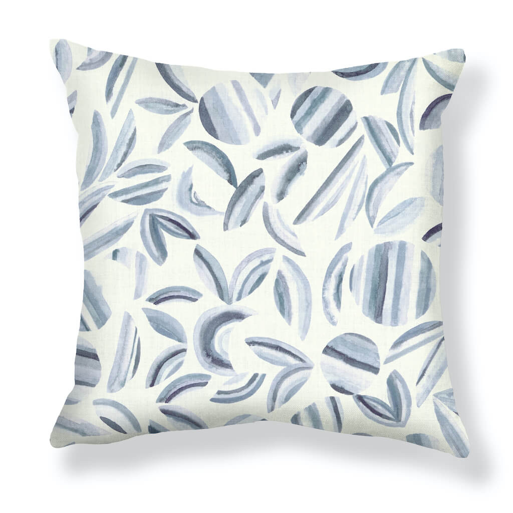 Striped Garden Pillows in Gray-Lilac