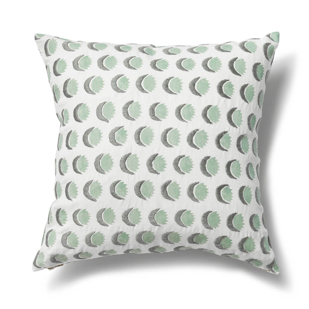 Sun and Moon Pillow in Dennis Green