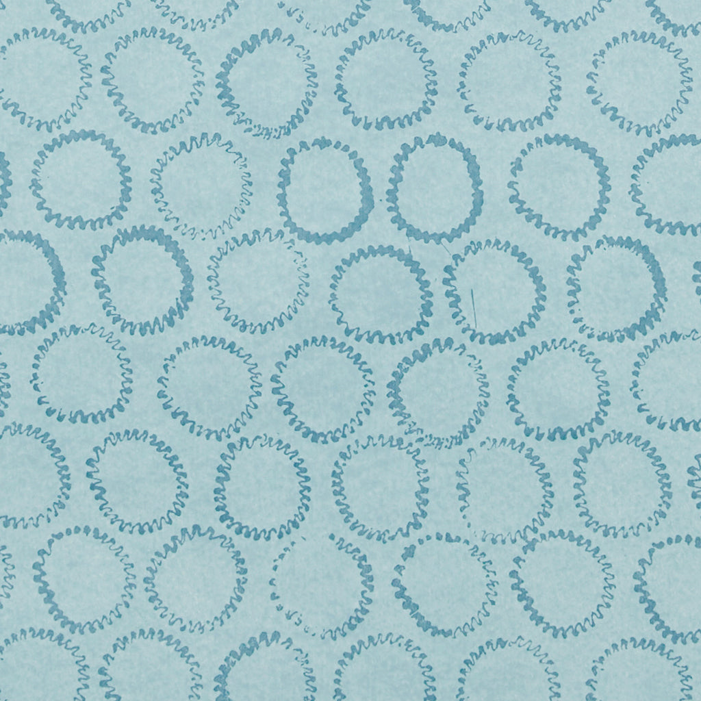 Sun Stamp Wallpaper in Blues