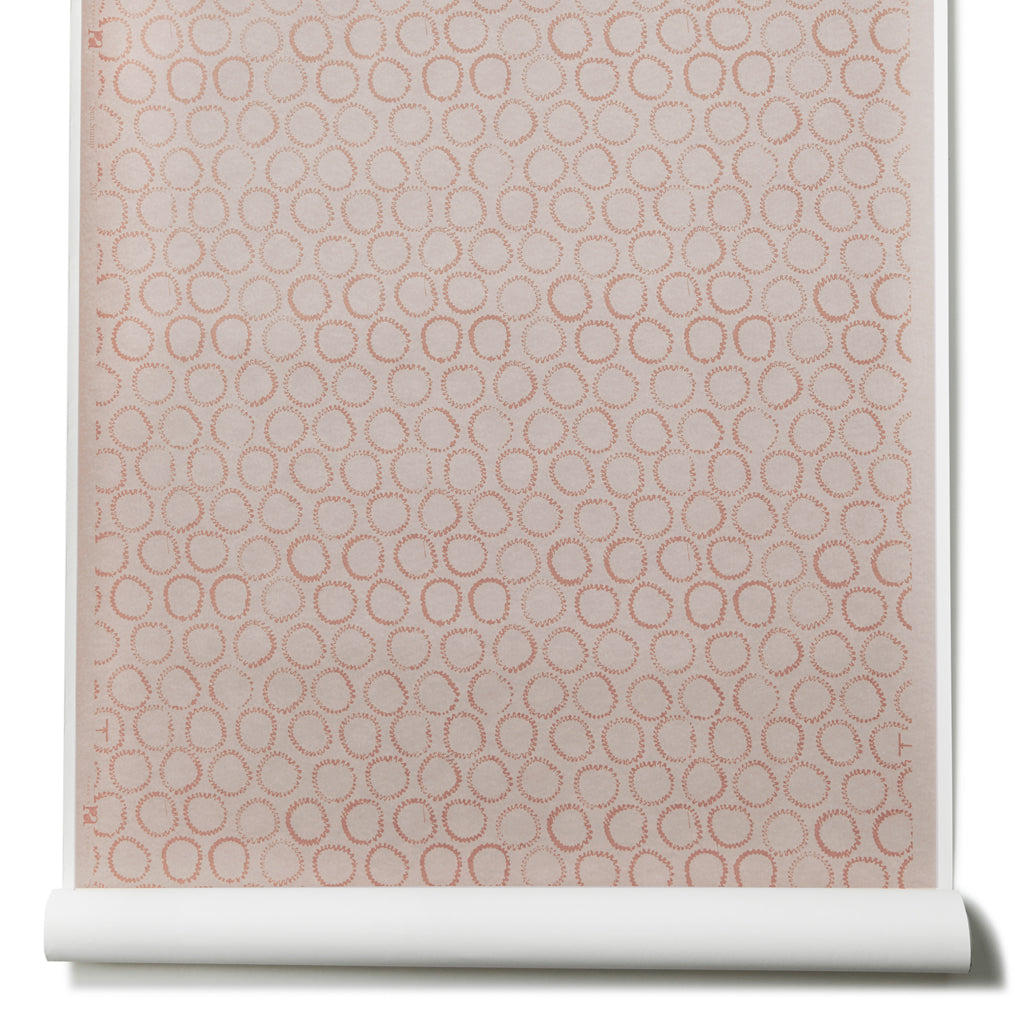 Sun Stamp Wallpaper in Blush