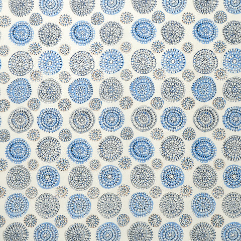 Sundial Fabric in Blue / Gray