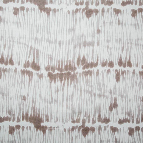 Swirled Stripe Fabric in Taupe