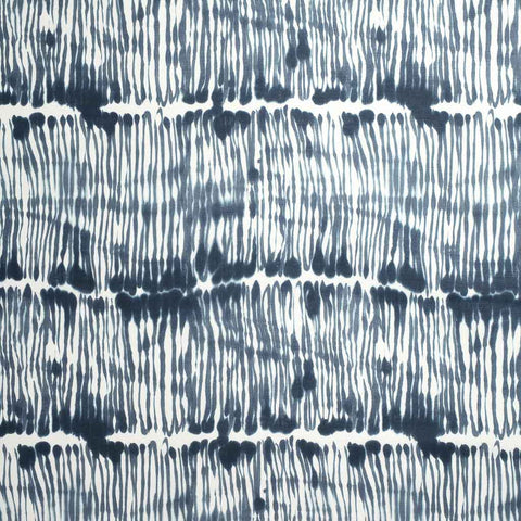Swirled Stripe Fabric in Washed Navy