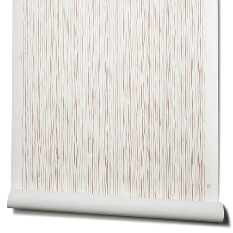 Thin Stripe Wallpaper in Taupe