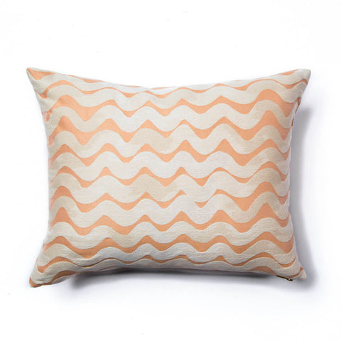 Tidal Wave Pillow in Peach