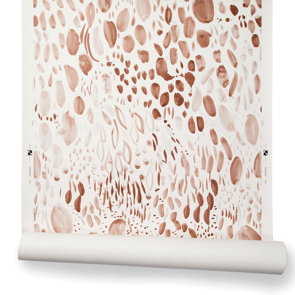 Blooms Wallpaper in Blushing Taupe