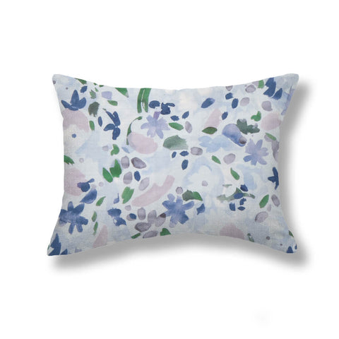 Wildflower Pillows in Blue / Lilac