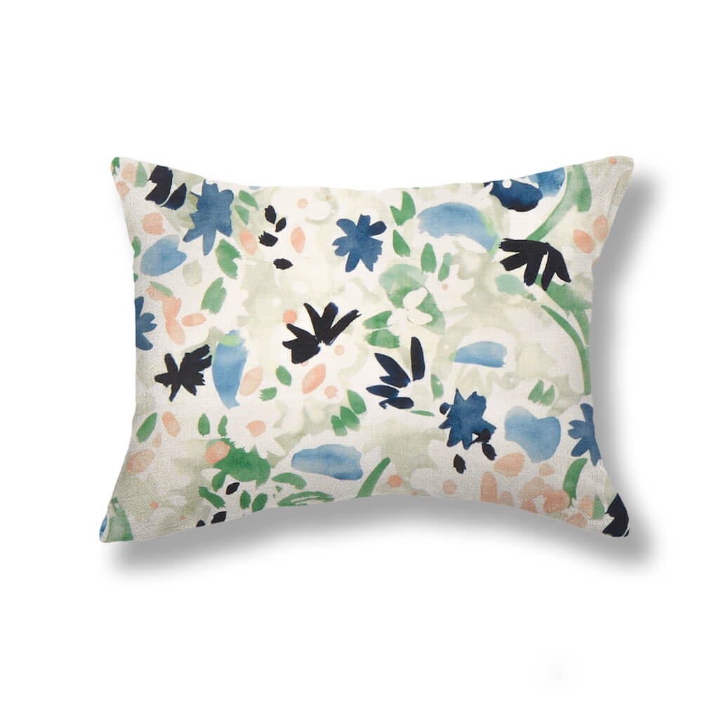Wildflower Pillows in Navy / Leaf