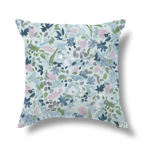 Wildflower Pillow in Blue Lilac