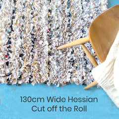 Buy rug making hessian per metre off the roll