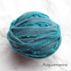 Ragged Life Rag Rug Blanket Yarn 100% Wool for Rag Rugging Crochet in Strips in Acquamarine Blue