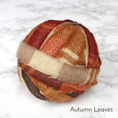 Ragged Life Rag Rug Blanket Yarn 100% Wool for Rag Rugging Crochet in Strips in Autumn Leaves Oranges and Creams