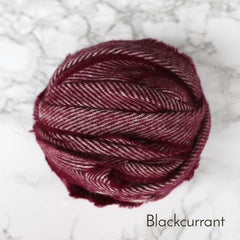 Ragged Life Rag Rug Blanket Yarn 100% Wool for Rag Rugging Crochet in Strips in Blackcurrant Pink / Purple
