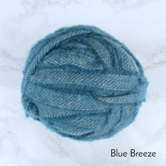 Ragged Life Rag Rug Blanket Yarn 100% Wool for Rag Rugging Crochet in Strips in Blue Breeze