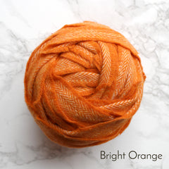 Ragged Life Rag Rug Blanket Yarn 100% Wool for Rag Rugging Crochet in Strips in Bright Orange