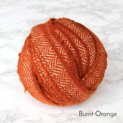 Ragged Life Rag Rug Blanket Yarn 100% Wool for Rag Rugging Crochet in Strips in Burnt Orange