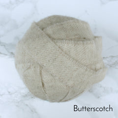 Ragged Life Rag Rug Blanket Yarn 100% Wool for Rag Rugging Crochet in Strips in Butterscotch Cream Plain